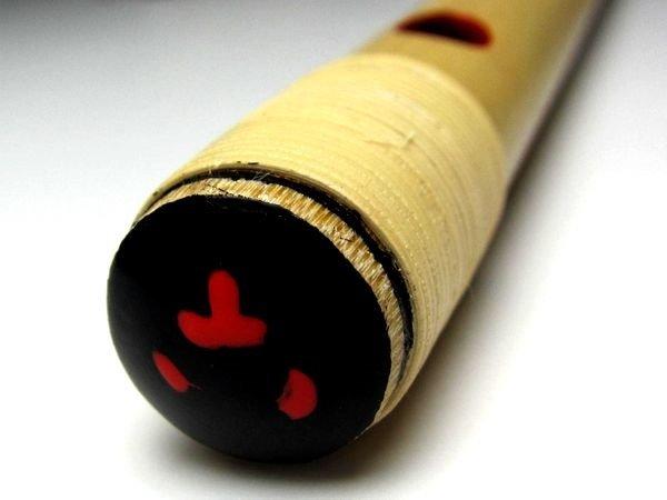 画像2: 紫水流しの笛 7穴6本調子 獅子田 籐両巻